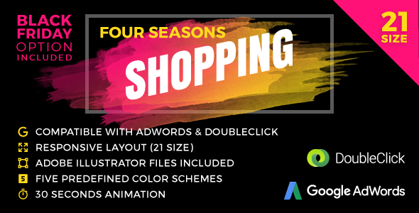 Four Seasons Shopping - Responsive Animated HTML5 Banner Ads (GWD) - CodeCanyon Item for Sale
