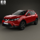 Nissan Qashqai with HQ interior and engine 2014 - 3DOcean Item for Sale