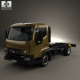Renault D 7.5 Chassis Truck with HQ interior 2013 - 3DOcean Item for Sale