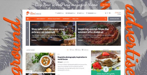 Download Rimi - WordPress Theme for Food Blog and Magazine