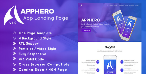 AppHero - App Landing Page - Landing Pages Marketing