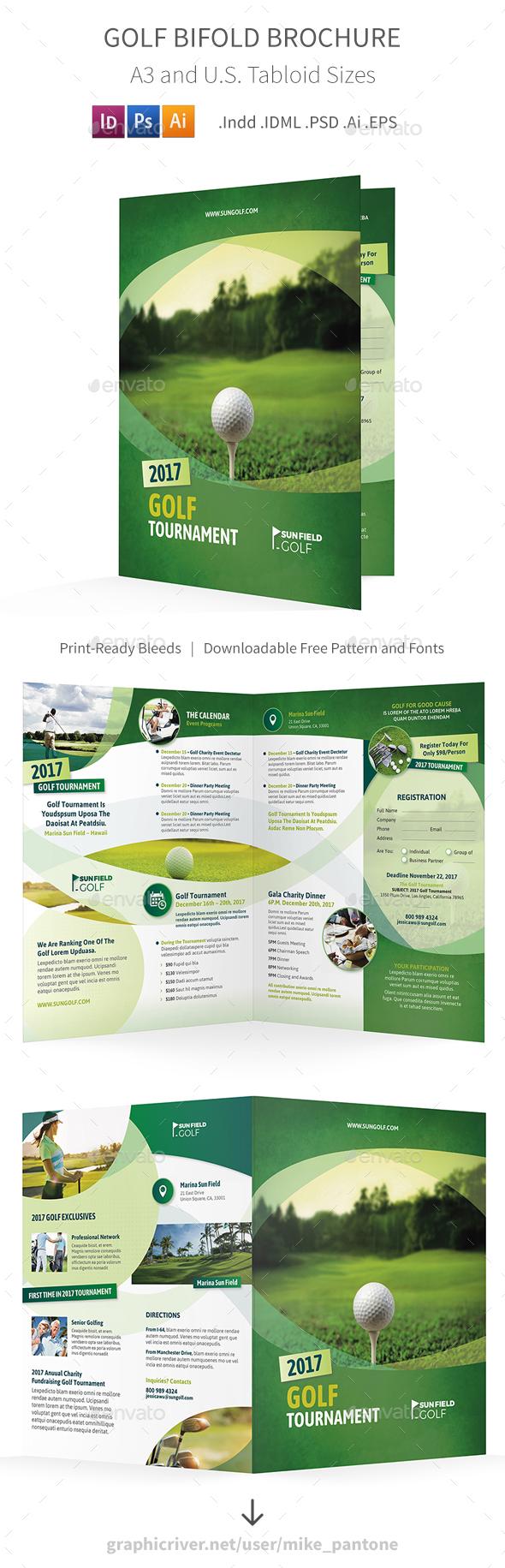GraphicRiver Golf Bifold Halffold Brochure 7 20844948
