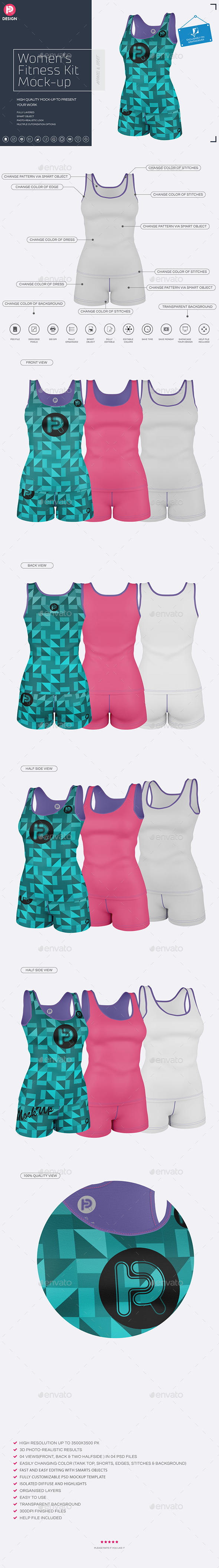 Women's Fitness Kit Mock-Up v3 - Miscellaneous Apparel