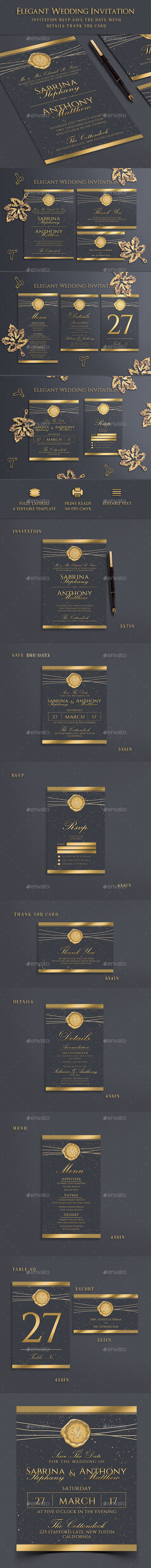 GraphicRiver Wedding Invitation 20845051