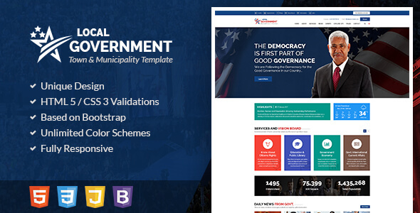 Local Government HTML Template for Town & Municipality Websites