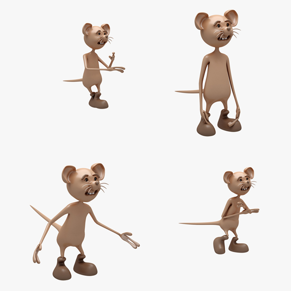 3DOcean Cartoon Mouse 01-02 3 ANIMATION 20845155
