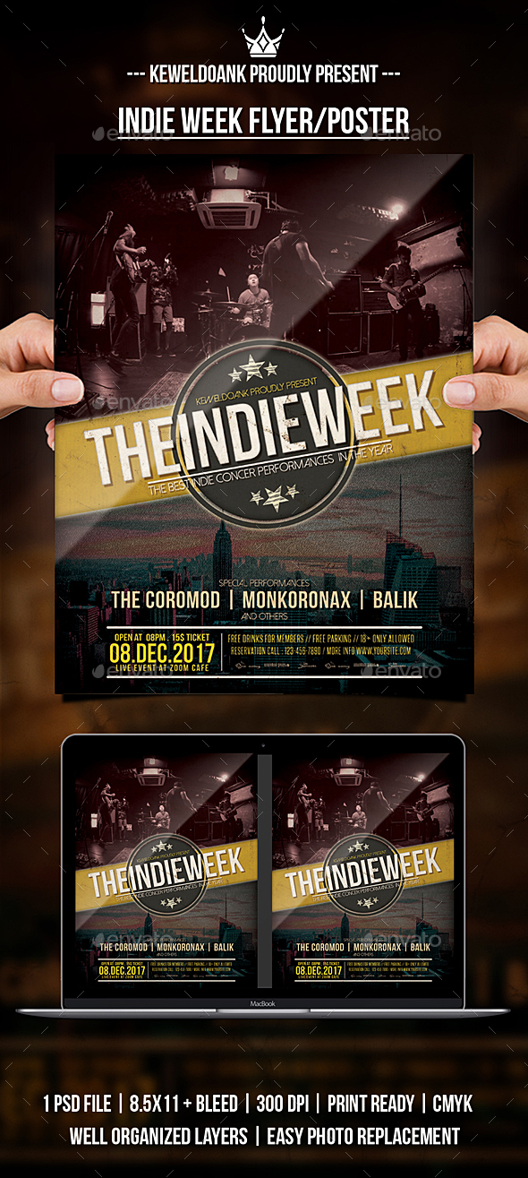 GraphicRiver Indie Week Flyer Poster 20845276