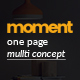 Moment One Page Corporate and Business Template
