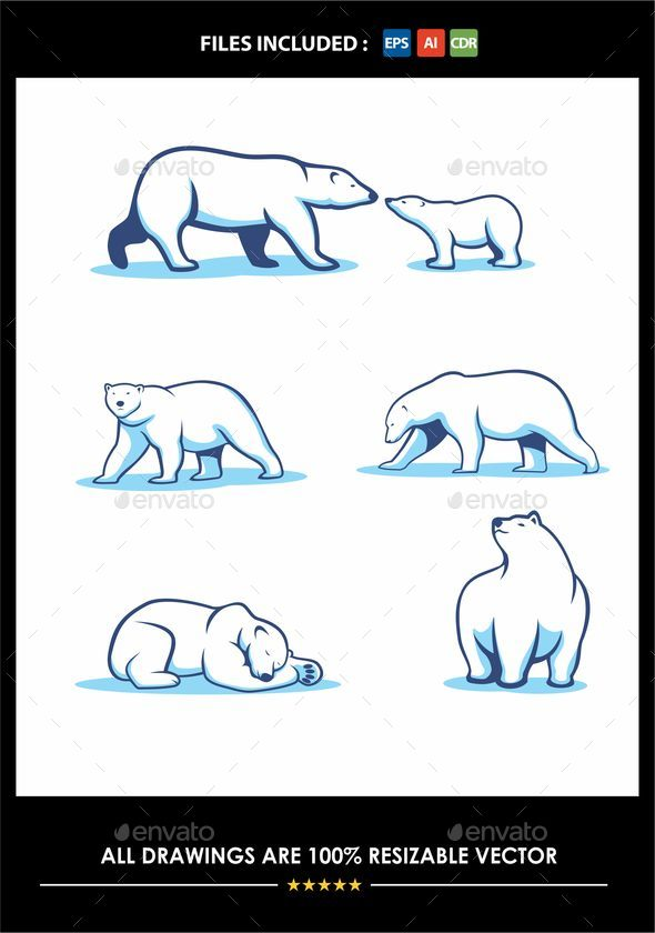 GraphicRiver Polar Bear Vector Drawing 20845309