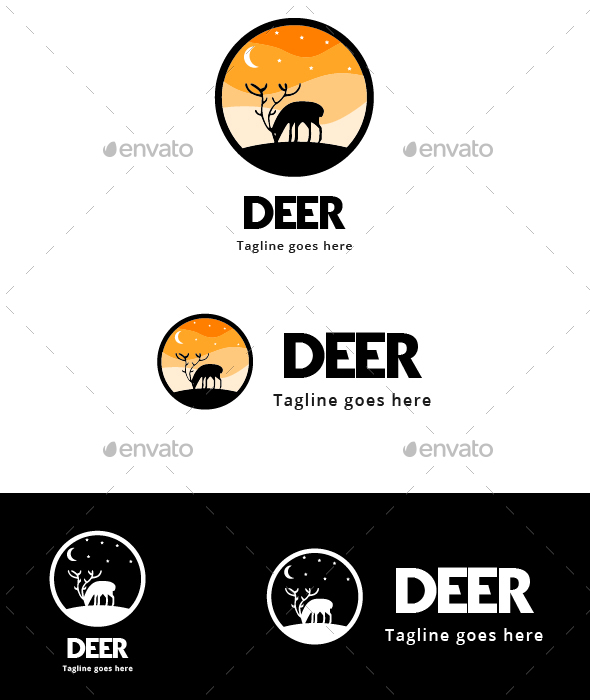 GraphicRiver Deer Silhouette 20845312