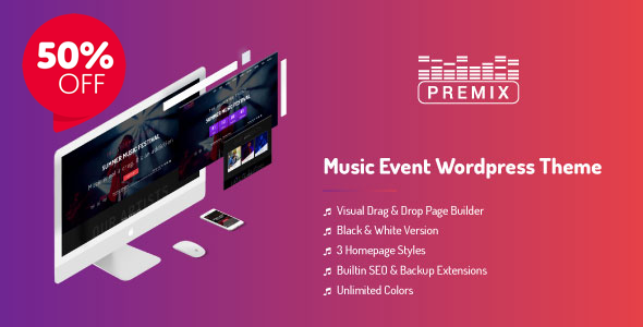 Image of Premix - Music Event WordpPress Theme