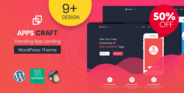 Image of Apps Craft - App Landing Page WordPress Theme