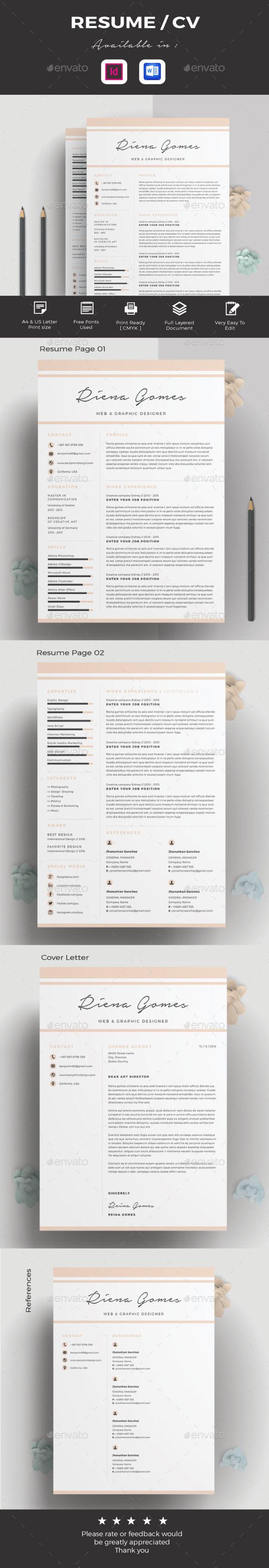 GraphicRiver Resume CV 20845444