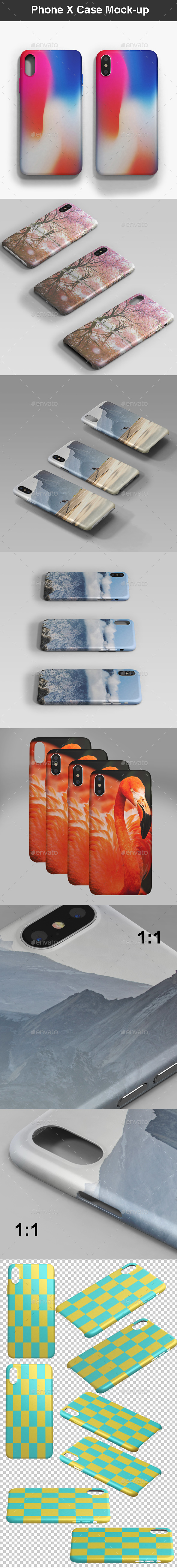 Phone X Case Mock-up - Mobile Displays
