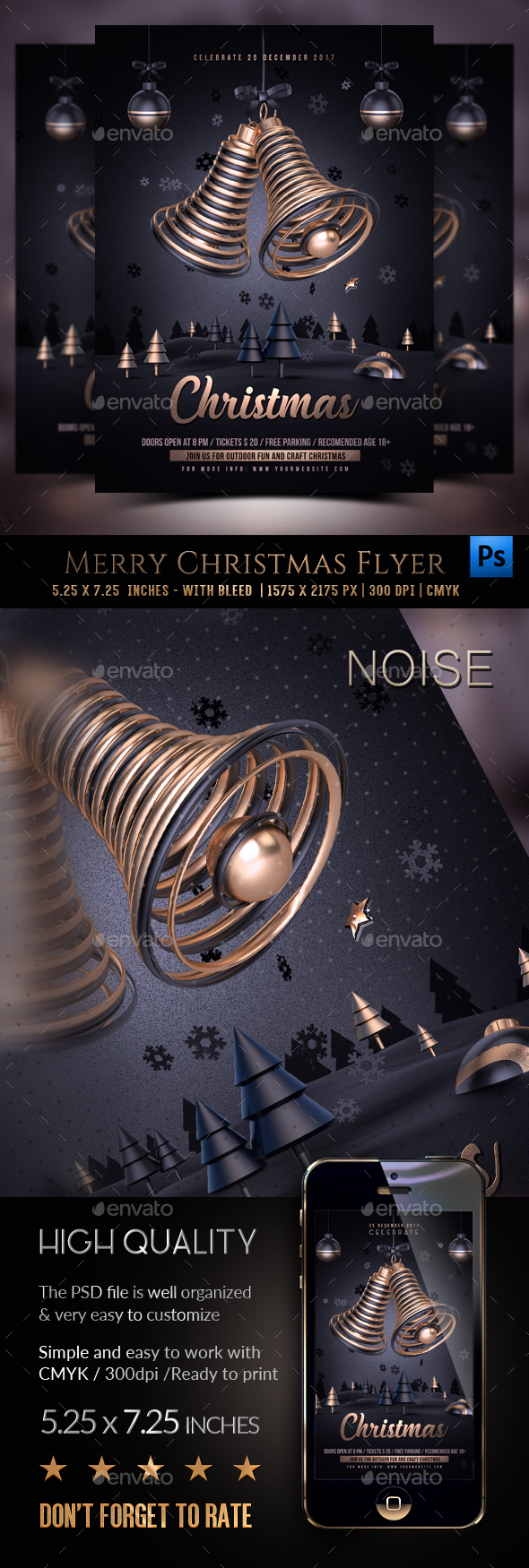 GraphicRiver Christmas Flyer Template 20845527