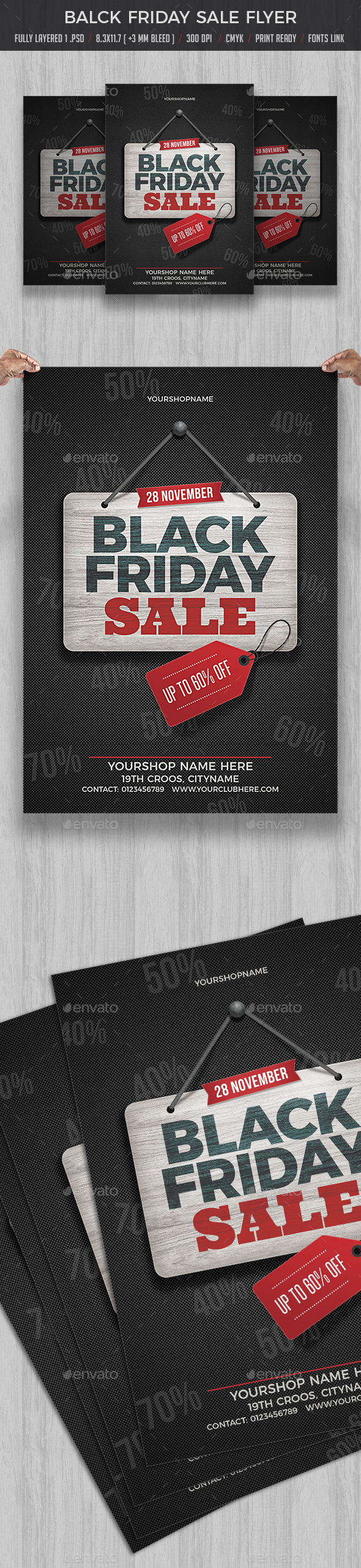 Black Friday Sale - Flyers Print Templates