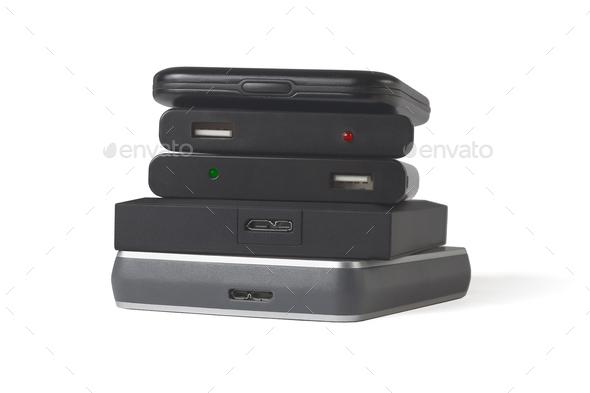 Computer Hard Disks - Stock Photo - Images