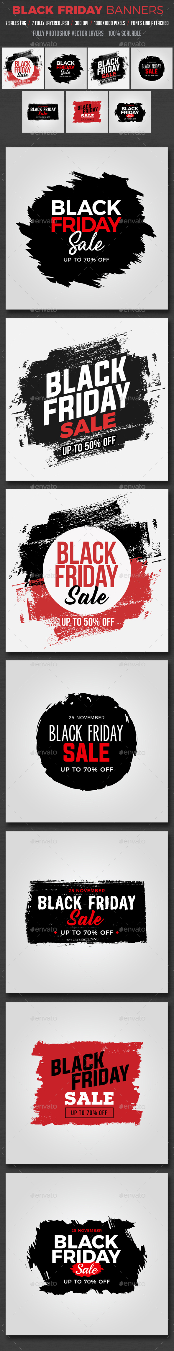 GraphicRiver Black Friday Banners 20845817