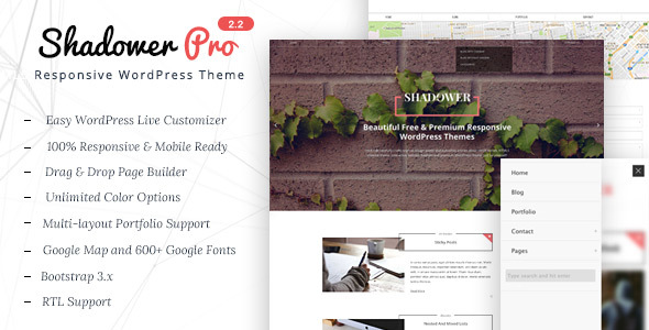 Shadower Pro - A Clean & Responsive WordPress Theme for Bloggers - Blog / Magazine WordPress