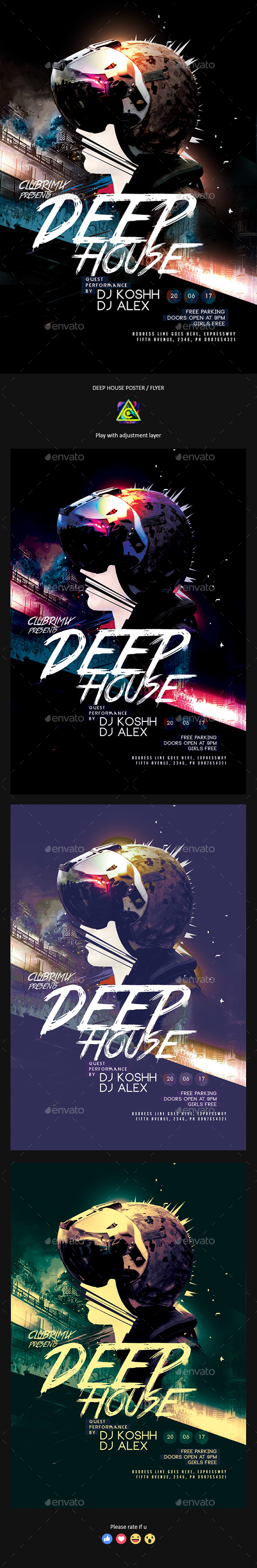 GraphicRiver Deep House Party Poster Flyer 20845887