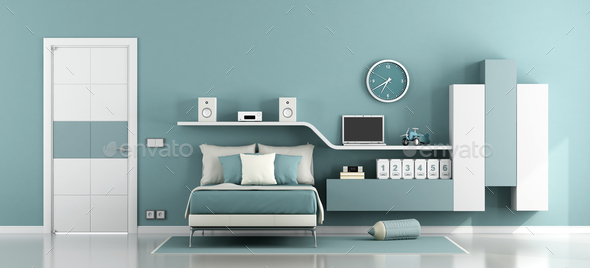 Teen room for boy - Stock Photo - Images
