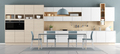 Blue and white modern kitchen - PhotoDune Item for Sale