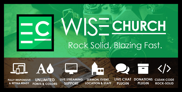 Image of Wise Church – The Wisest Multi-Purpose Church WordPress Theme