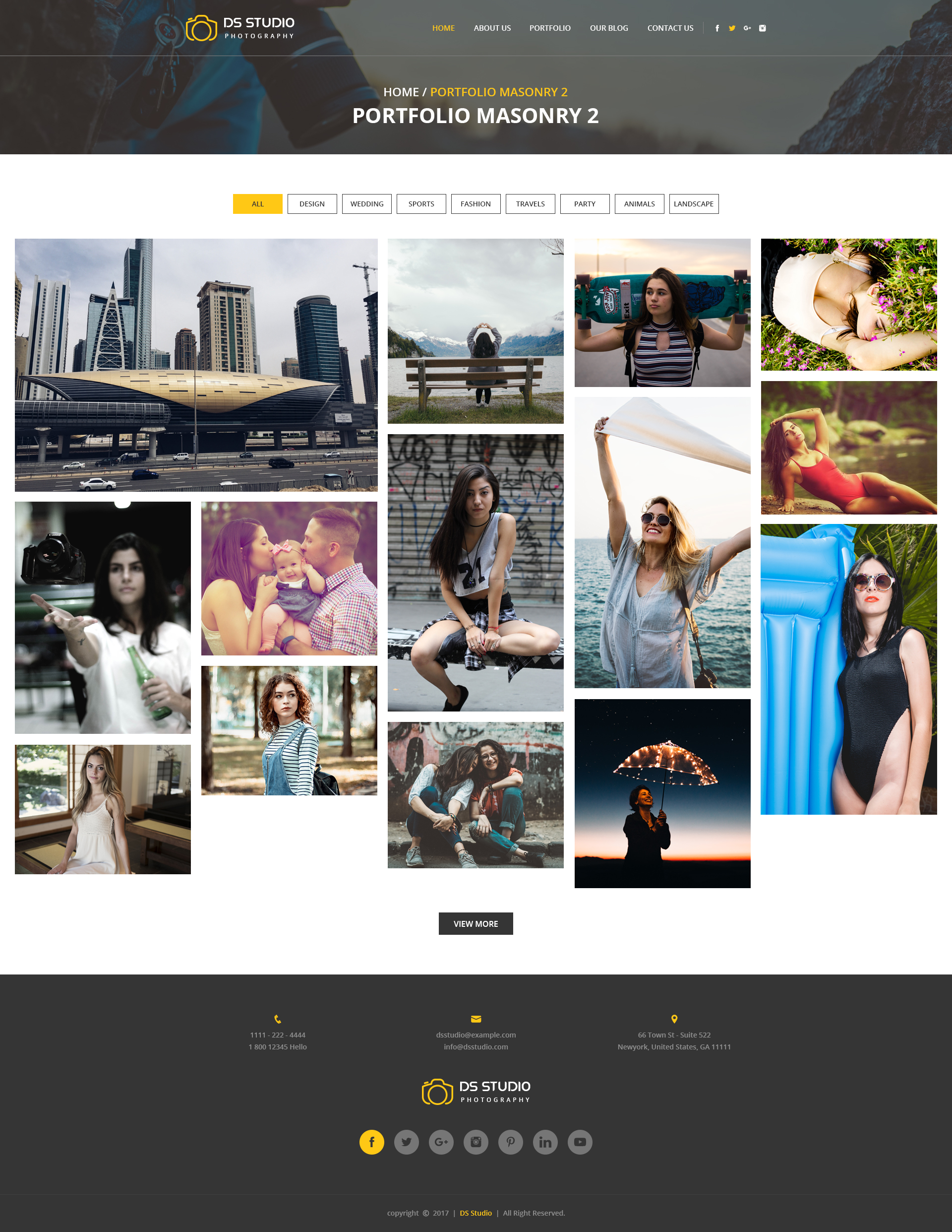DS Studio Psd Template For Photography by Gambol | ThemeForest