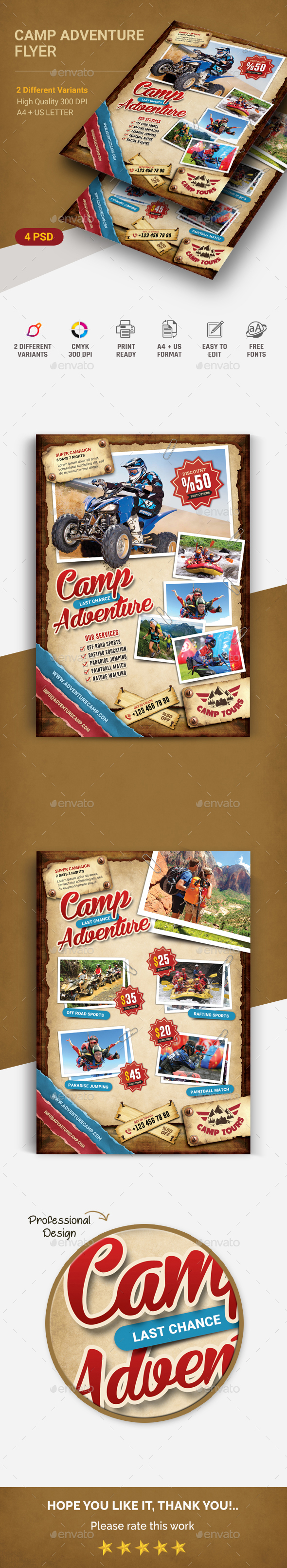 GraphicRiver Camping Adventure Flyer 20846134