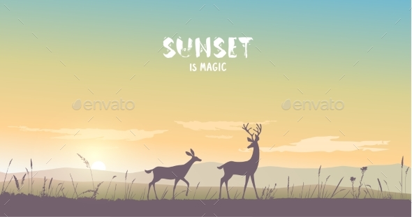 GraphicRiver Deer Nature 20846139