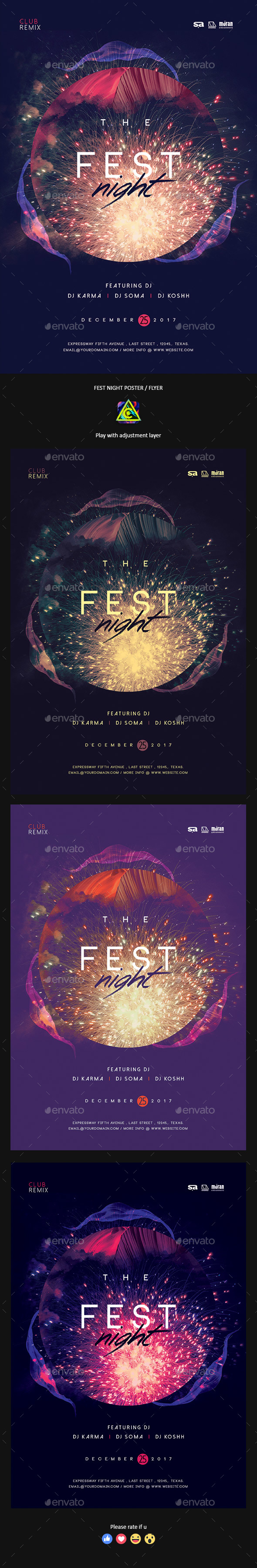 GraphicRiver Fest Night Poster Flyer 20846154