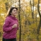 Sport Girl Running in the Forest - VideoHive Item for Sale