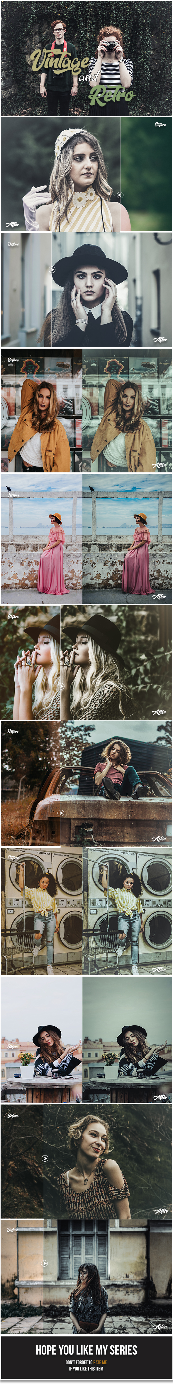 30 Vintage & Retro Lightroom Presets - Lightroom Presets Add-ons