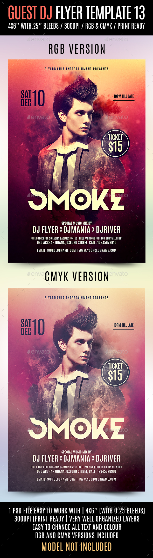 GraphicRiver Guest DJ Flyer Template 13 20846334