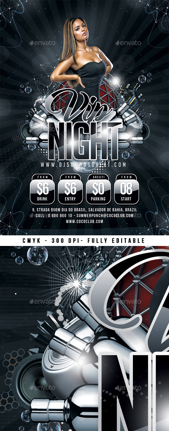 GraphicRiver Vip Night Flyer 20846353