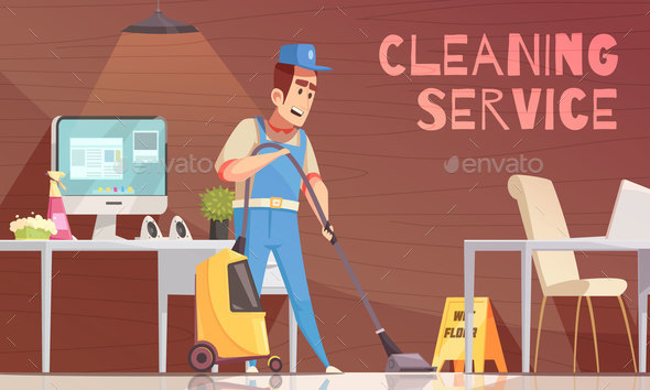 Cleaning Service Vector Illustration - Patterns Decorative