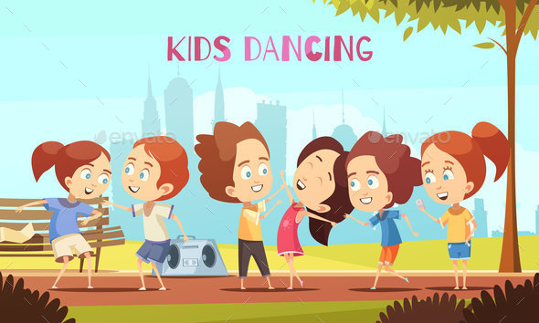 GraphicRiver Kids Dancing Vector Illustration 20846436
