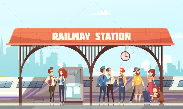 GraphicRiver Railway Station Vector Illustration 20846438