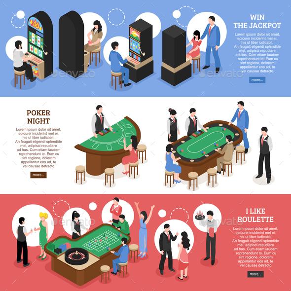 GraphicRiver Casino Isometric Horizontal Banners 20846471