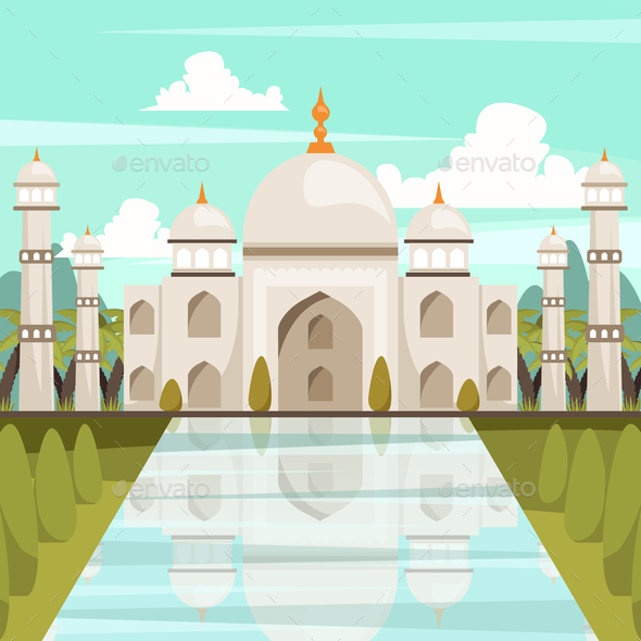 GraphicRiver Taj Mahal Mausoleum In India Orthogonal Composition 20846485