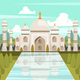 Taj Mahal Mausoleum In India Orthogonal Composition