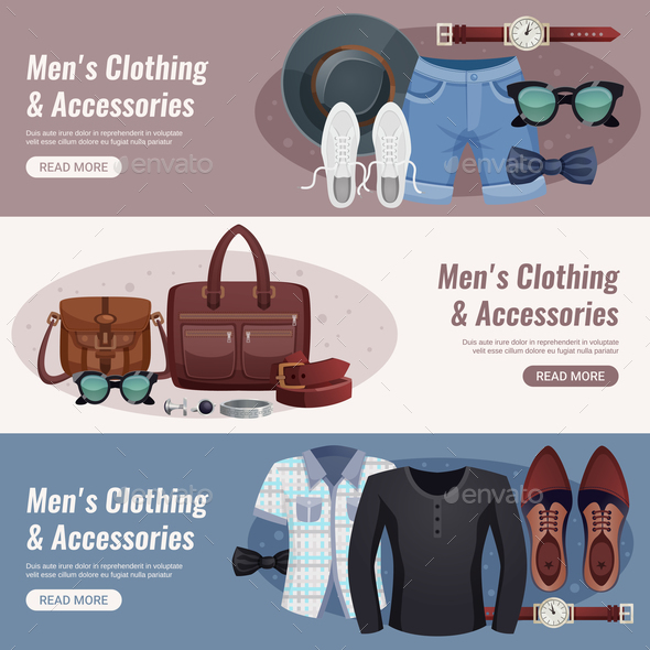 GraphicRiver Men Accessories Horizontal Banner Set 20846496