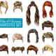 Realistic Hairstyle Set - GraphicRiver Item for Sale