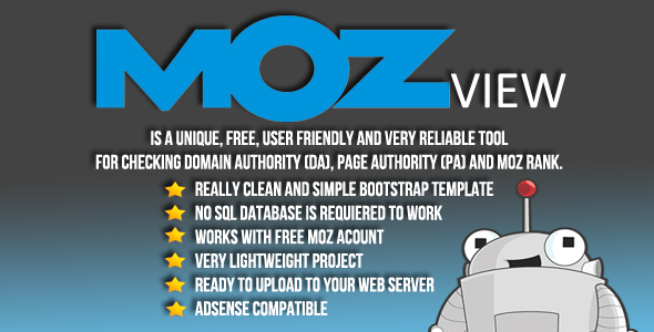 MOZView - MOZ metrics - CodeCanyon Item for Sale