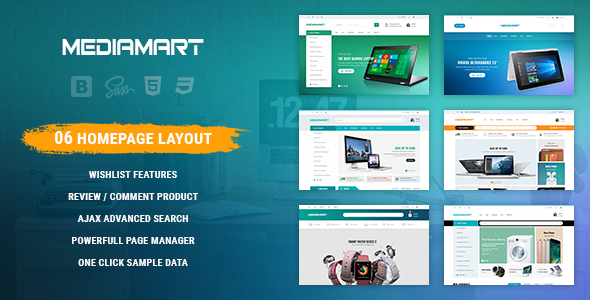 Image of Mediamart - Facilitate Responsive PrestaShop 1.7 For Hi-Tech, Mobile, Electronic