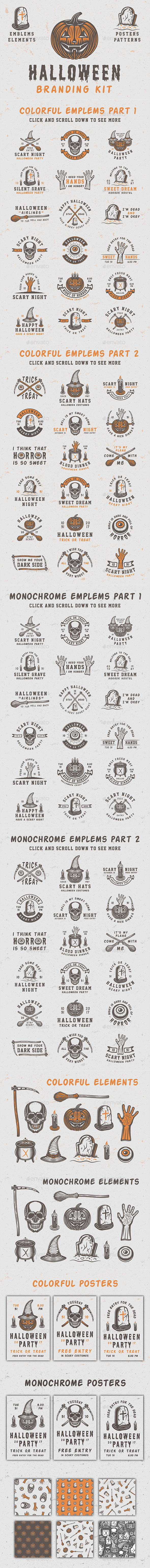 GraphicRiver Halloween Branding Kit 20812325