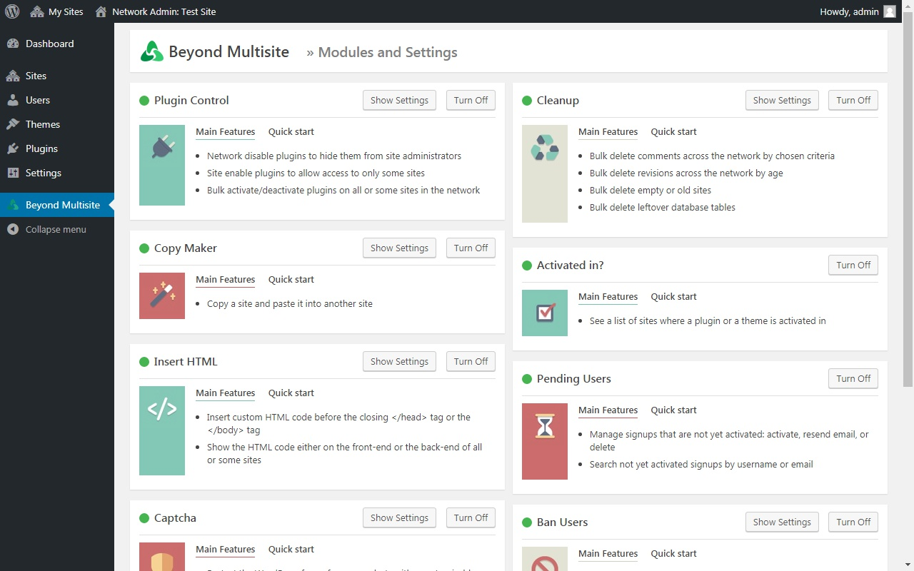 Beyond Multisite - Utilities for WordPress Network Admins