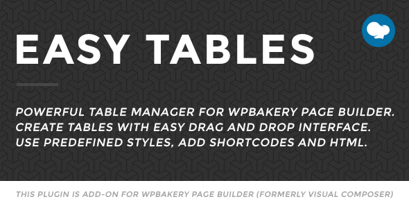Easy Tables - Table Manager for WPBakery Page Builder - CodeCanyon Item for Sale