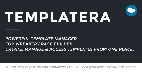 Templatera - Template Manager for WPBakery Page Builder - CodeCanyon Item for Sale