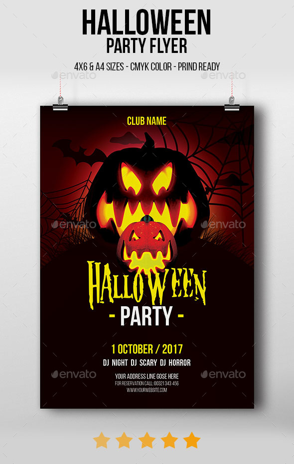 GraphicRiver Halloween Party Flyer 20829055